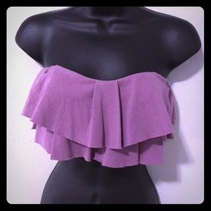 Super Cute Stretchy Cotton Ruffle Sexy Tube Top